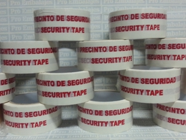 Precinto de seguridad / security tape
