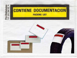 Sobres contiene documentación - packing list