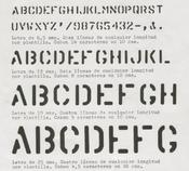 Proembalajes 4 tamaños de letra standard plantillas rápidas